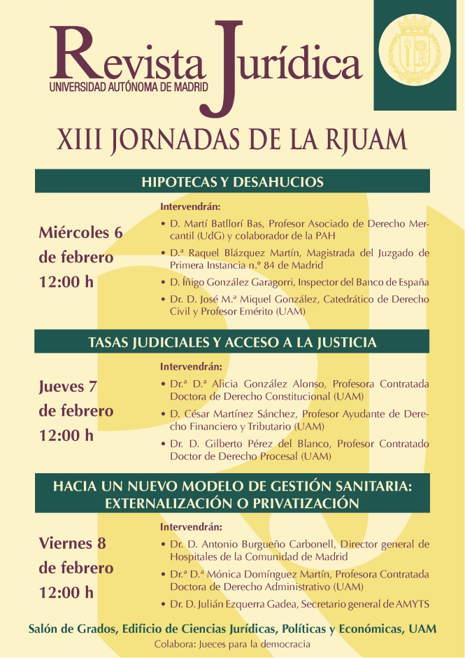 CARTEL XIII JORNADAS RJUAM
