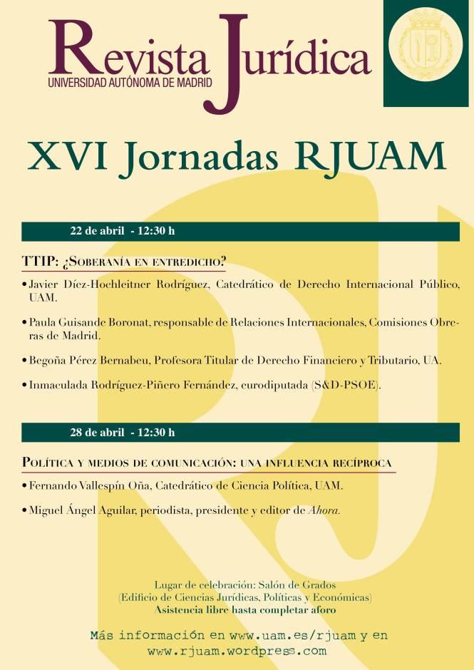 Cartel XVI Jornadas