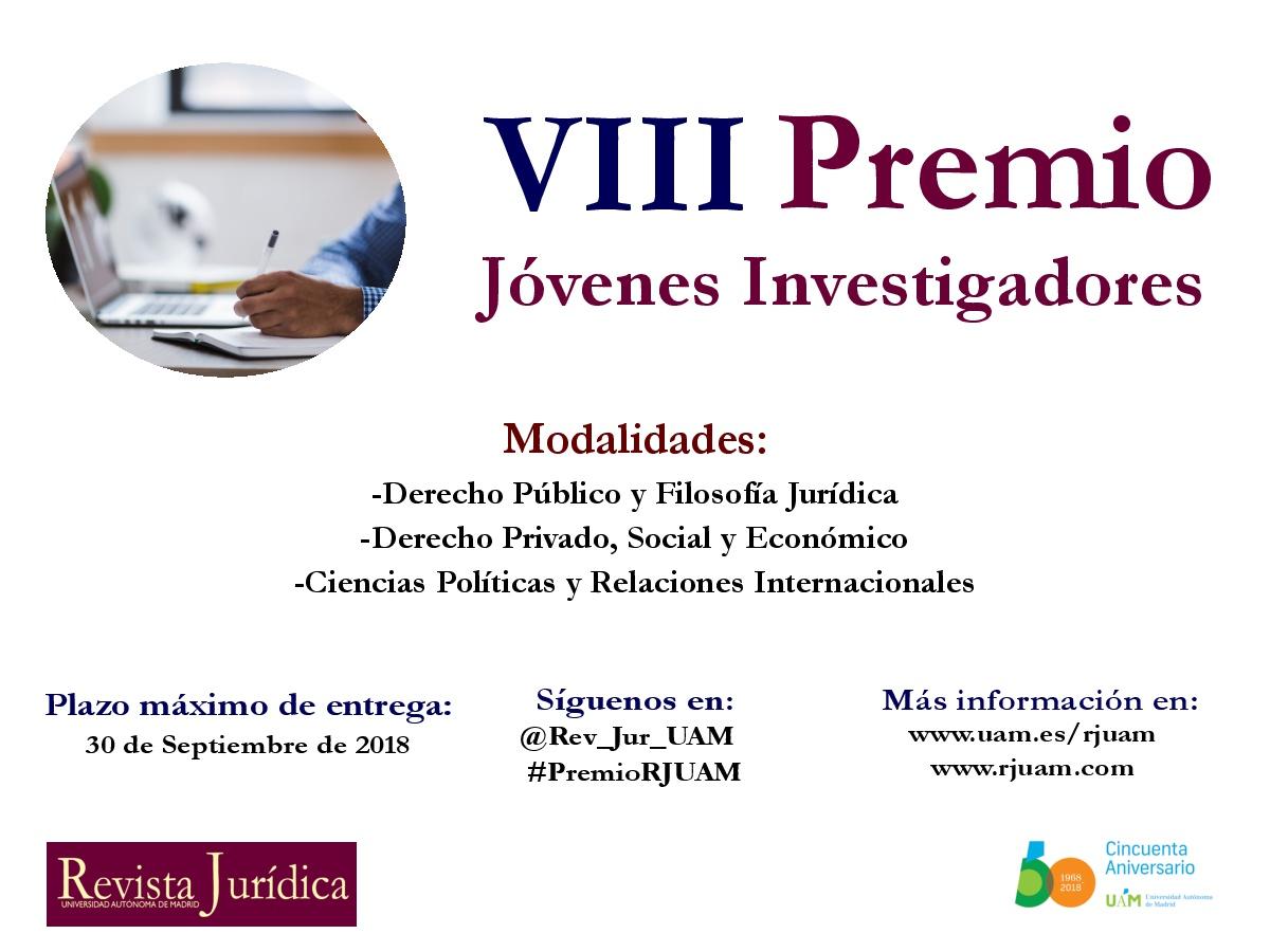 VIII Premio RJUAM - Difusión