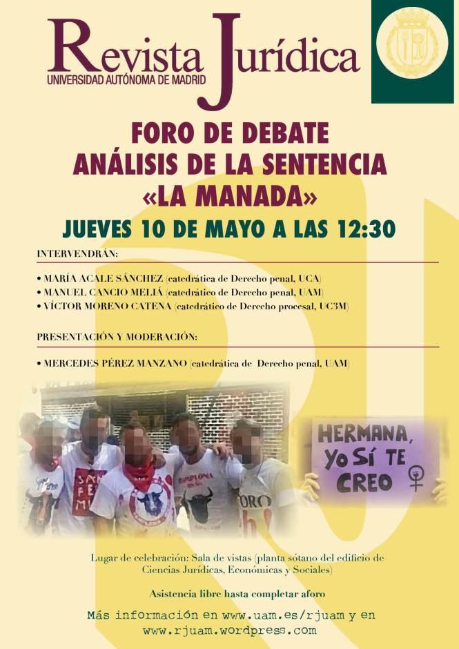 cartel foro «La Manada»