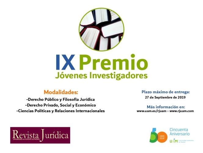 IX Premio RJUAM - Cartel difusión Twitter 1